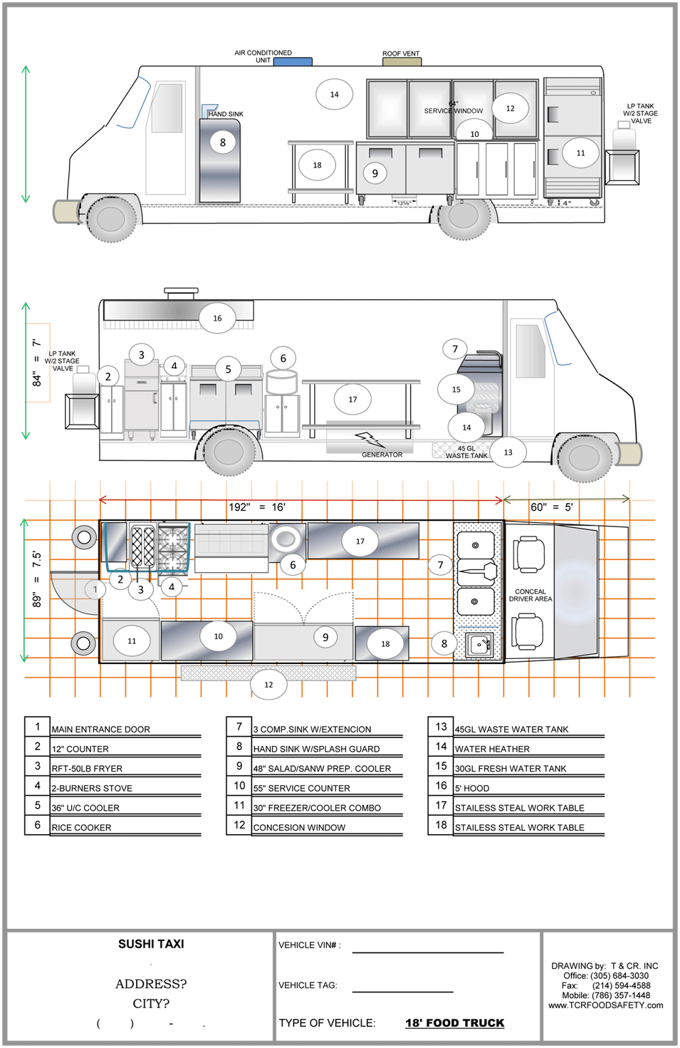 Food Truck Parking Dimensions
