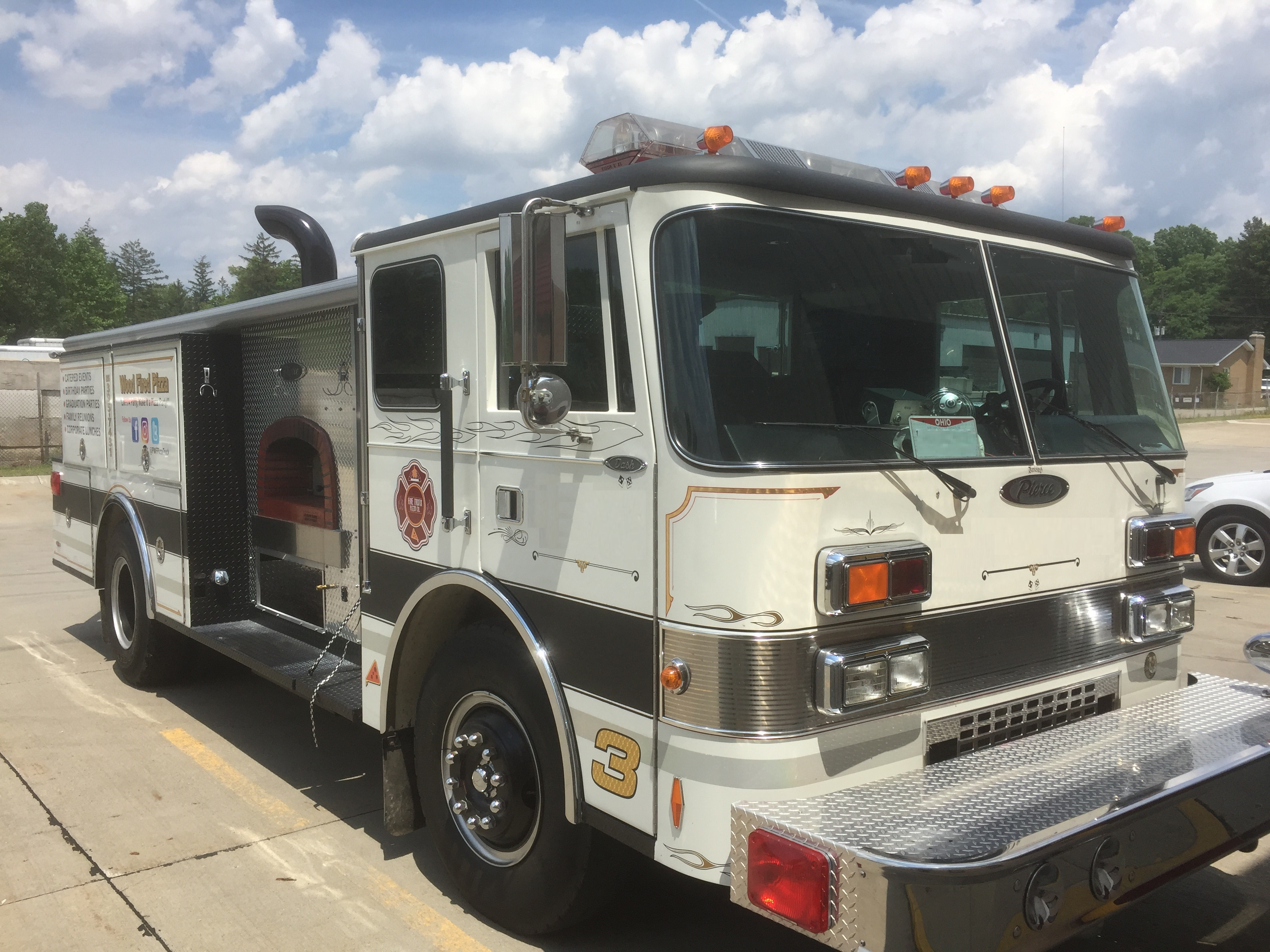 Fire engine truck front food trucks for sale used food for Truck motors for sale