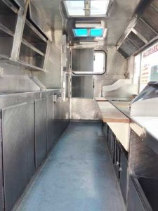 Food Trailer for sale interior